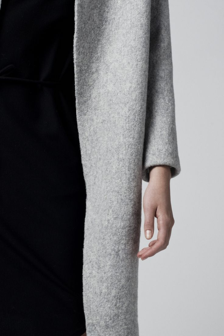 MINIMAL + CLASSIC:RAW coat wool fabric. Photographed by Kamil Zacharski. www.raw-fashion.com