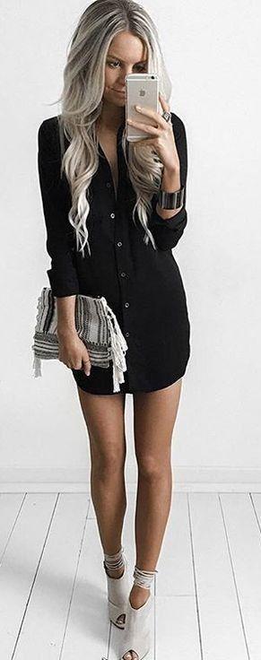 #summer #style  Lulus  Dress: Obey Jetset Shirt Dress                                                                             Source
