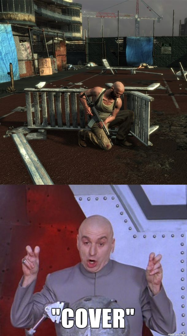 Taking cover in video games... not quite what it's made up to be #gaming #videogames #FPS