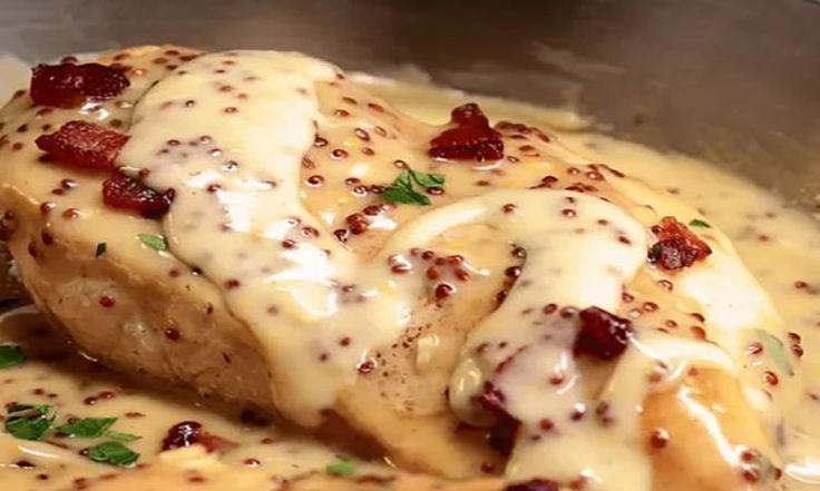 Prêt en 30 minutes top chrono, ce poulet dans sa sauce crémeuse miel & moutarde vous fera saliver