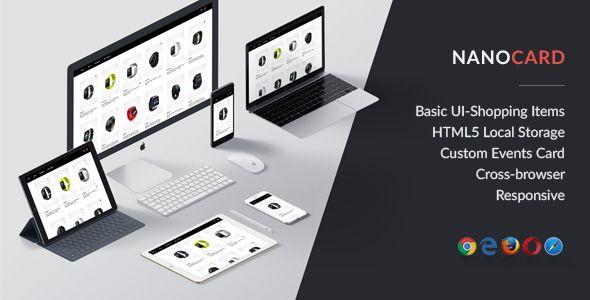 NanoCard - Responsive UI Shopping items (cards)