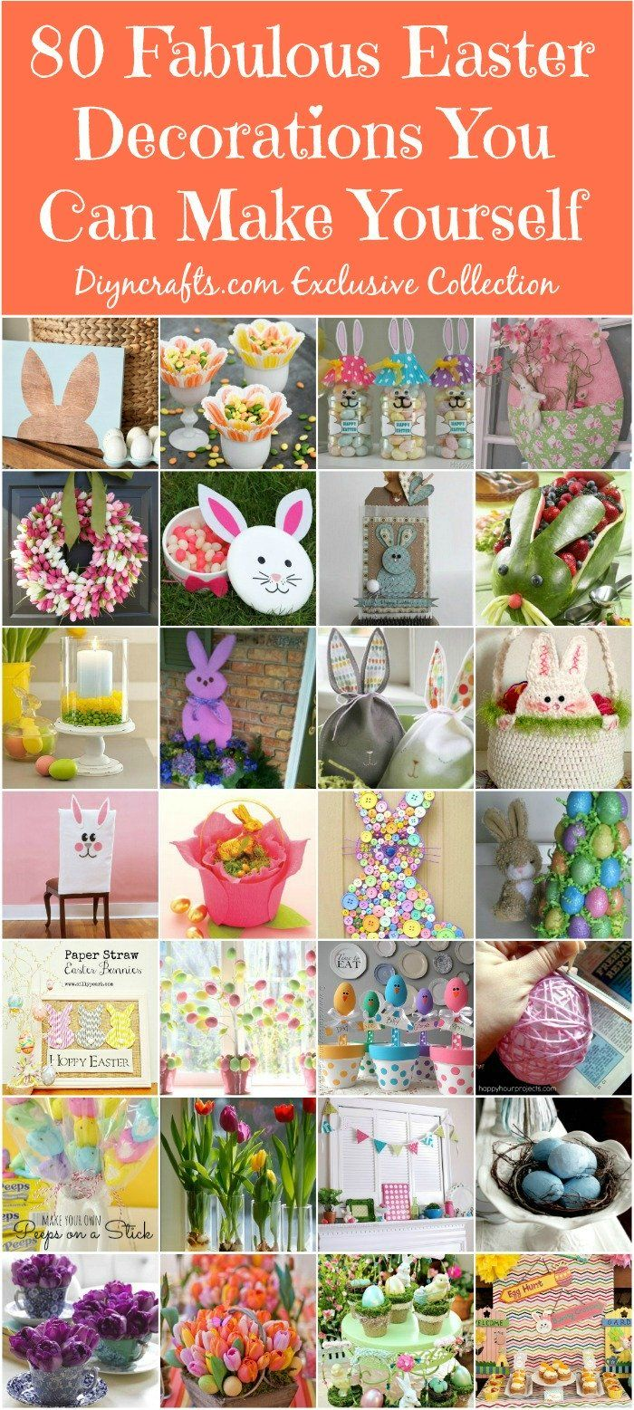80 Fabulous Easter Decorations You Can Make Yourself – DIY & CraftsEasterdecor, Ideas, Diy Crafts, Easter Crafts, 80 Fabulous, Easter Decor, Happy Holiday, Holiday Decor, Fabulous Easter