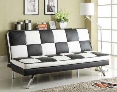 black and white retro checkered sofa bed by coaster by coaster home furnishings http