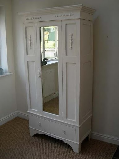 This French armoire would be perfect in a hallway for coats and boots and checking one's reflection on the way out.