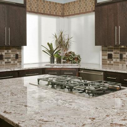 St Cecilia Rio Granite With Cabinets Dream Home White Springs Kitchen Interior
