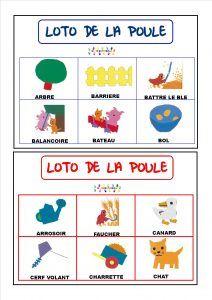 La petite poule rousse : loto – MC en maternelle