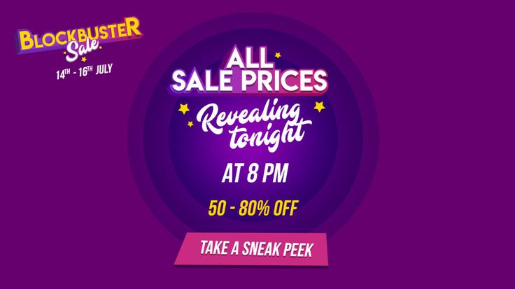 Myntra #Blockbuser #Sale to go live at 12 AM!  Get Ready!