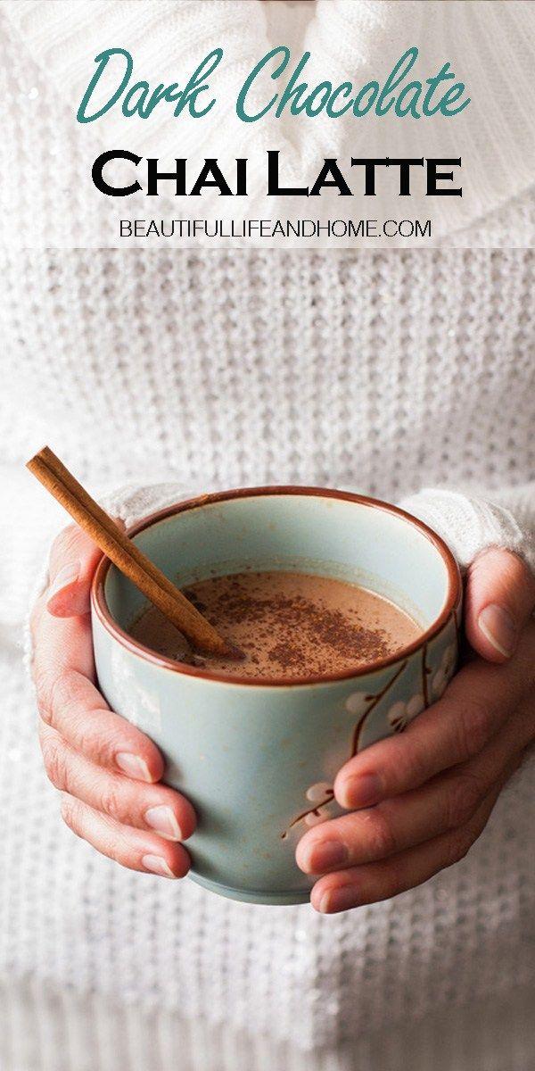Dark Chocolate Chai Latte Beautiful Life And Home Recipe Chai Latte Recipe Chai Latte Chai