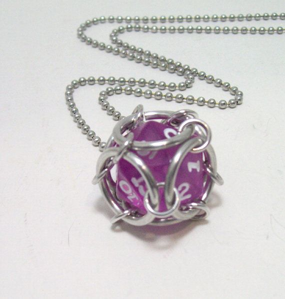 dice necklace Dungeons and dragons dice by Eternalelfcreations, $12.00 see their online store here:  www.etsy.com/shop/eternalelfcreations
