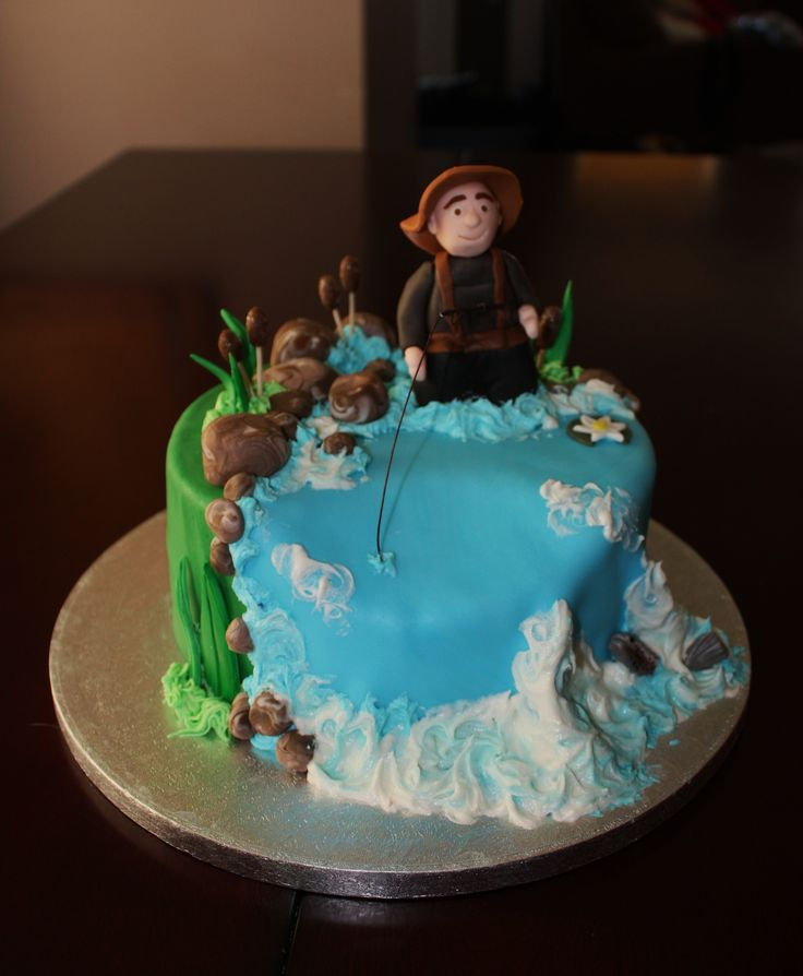 16 best toppers for cake images on Pinterest Fishing cakes