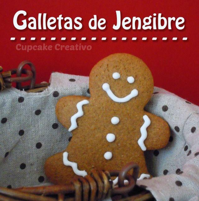Receta de galletas de jengibre, como decorar galletas de muñecos de jengibre navidad - Cupcake Creativo