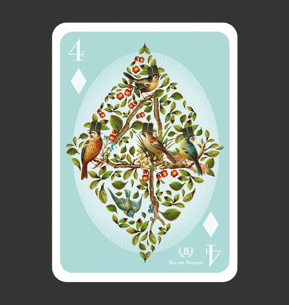 52Aces is a pack of playing cards, each one sporting a design by a different illustrator. The really great thing about it is that mostly it avoids the 'usual suspects' and has introduced us to some image makers we weren't hereto familiar with...