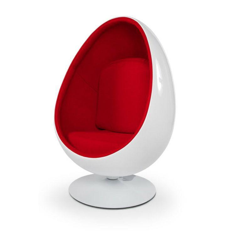 Ovalia biały czerwony