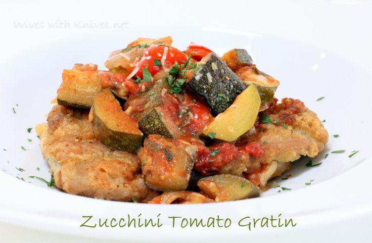 Zucchini Tomato Gratin -my favorite zucchini recipe