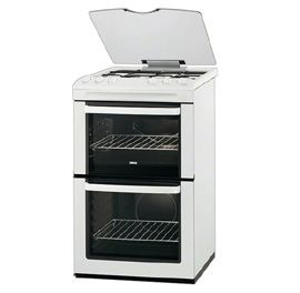Zanussi, ZCG55QGW, Free-Standing Gas Cooker in White