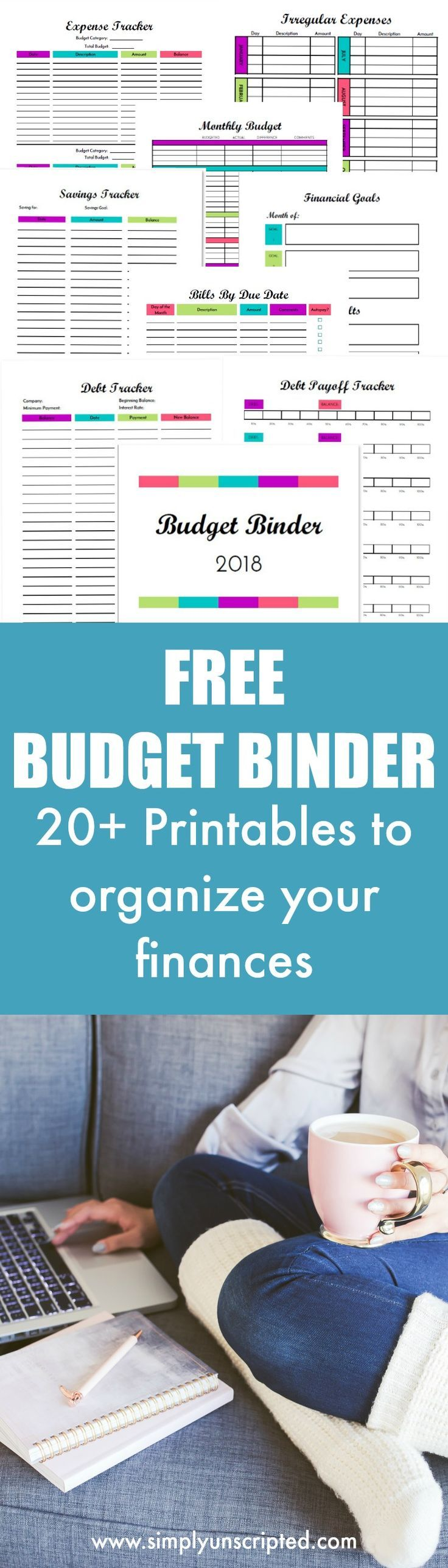Inspirational FREE Budget Binder Printables To Organize Your Finances