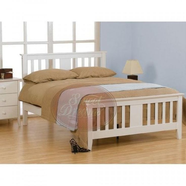 The Kestrel 3ft single wooden bed frame is a modern take on the traditional shaker style, constructed from sustainable rubberwood with an fresh white finish.
