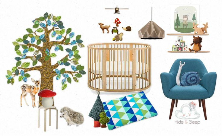 Woodland Nursery by www.hidesleep.com.au