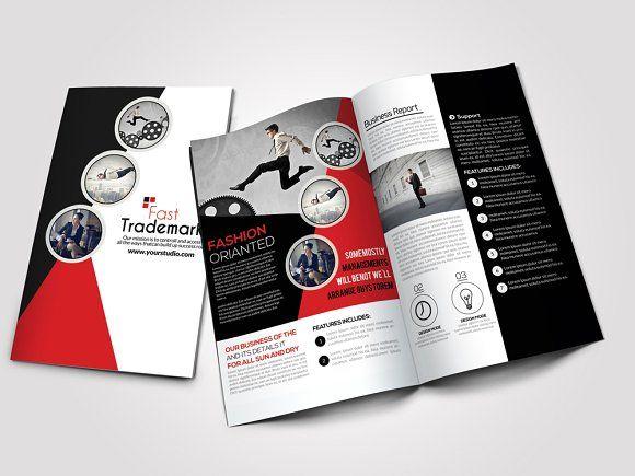 Business Bi Fold Brochure By Psd Templates On Creativemarket