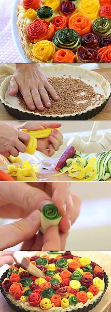 Невероятно красивый овощной пирог