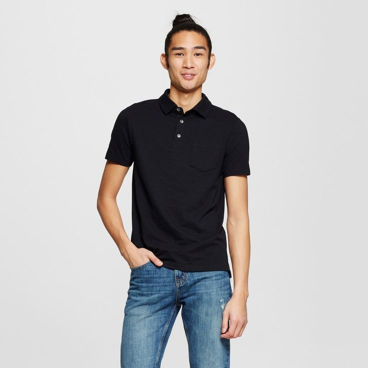Men's Polo Shirt Black Xxl - Mossimo Supply Co.