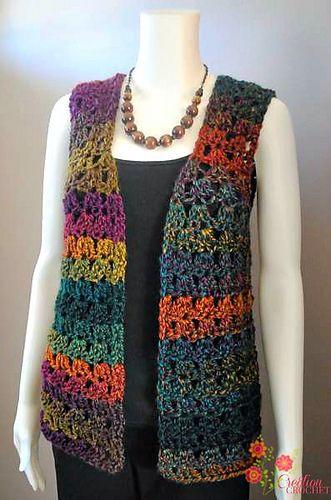 Ravelry: Unique Shell Vest pattern by Lorene Haythorn Eppolite- Cre8tion Crochet