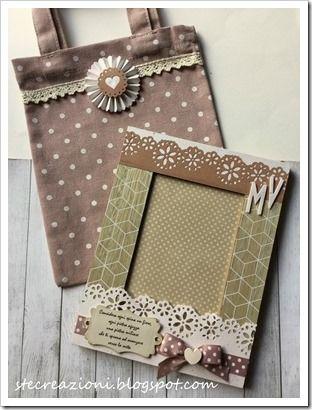 Cornice romantica e sacchetto in lino