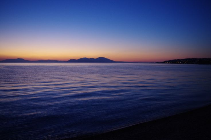 Sykia beach view at sunset