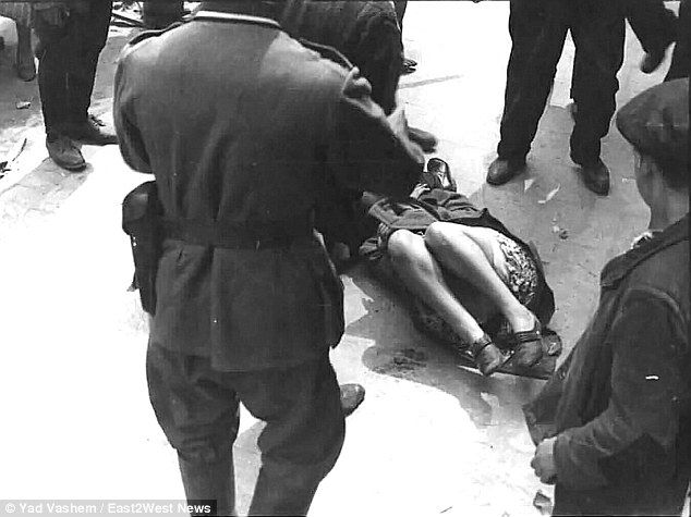 Victim: Women in Lviv (pictured) were beaten routinely while one survivor from Rava Ruska has told of how a Nazi ordered a woman to be stripped naked, smeared with butter and beaten to death