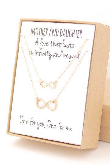Your mom will LOVE this. The perfect gift for Christmas, Mother's Day, or that special upcoming birthday! Made from gold-filled infinity charms and necklace chain and findings, these necklaces are per birthday gifts for mom | birthday gifts for mom from daughter | birthday gifts for boyfriend | birthday gifts for boyfriend creative | cool birthday gifts for boyfriend | cool birthday gifts for guys | cool birthday gifts for guys brother | cool birthday gifts for dad | cool birthday gifts for…