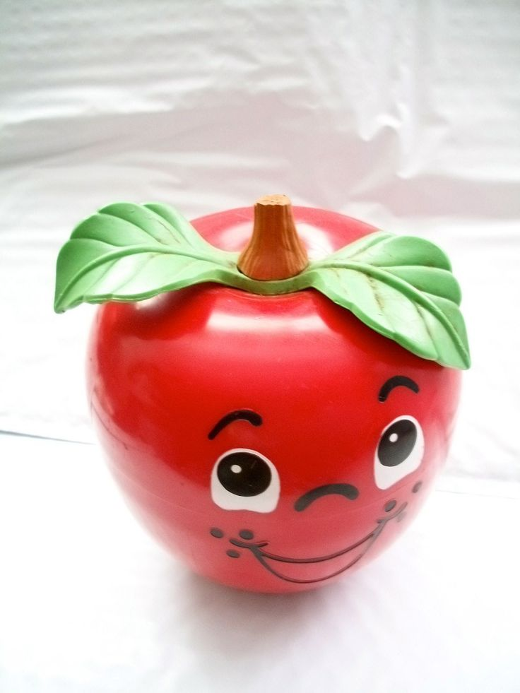 Vintage Happy Apple Toy  Number 435 By Fisher Price Red 1970s. $14.00, via Etsy.