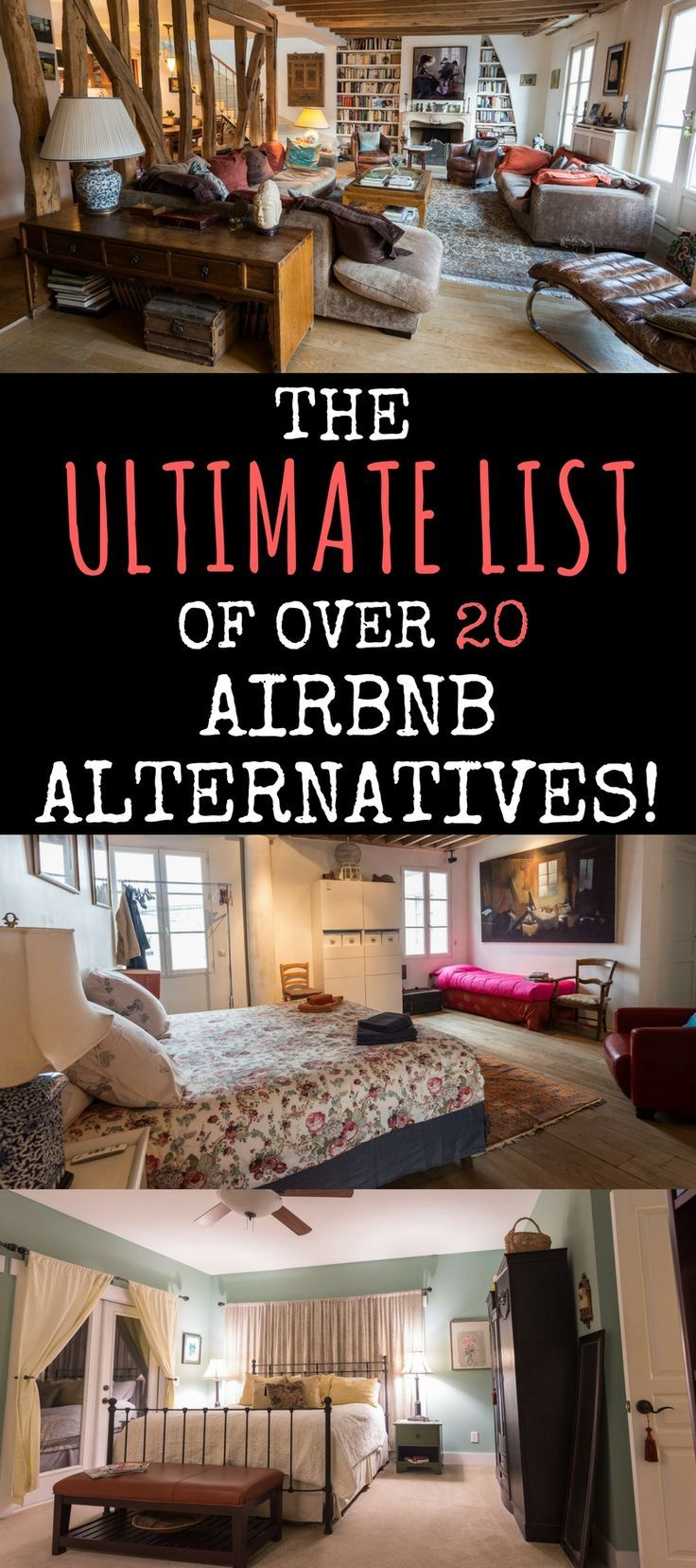 Looking for alternatives to AirBnb to book your next vacation rental or apartment? This guide provides information on over 20 apartment and vacation rental websites like AirBnb!