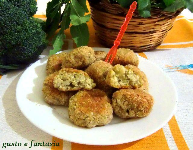 polpette di broccoli e miglio
