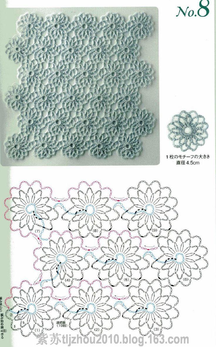 continuous crochet motif