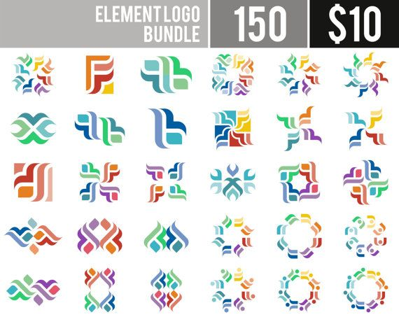 25% OFF  150 Design Elements Logo  Digital Clipart by AcongStudio