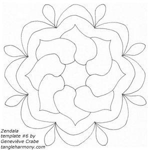 Zendala template #6 by Amaryllis Creations, via Flickr