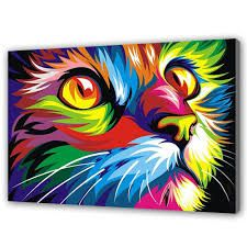 Afbeeldingsresultaat voor katten schilderen