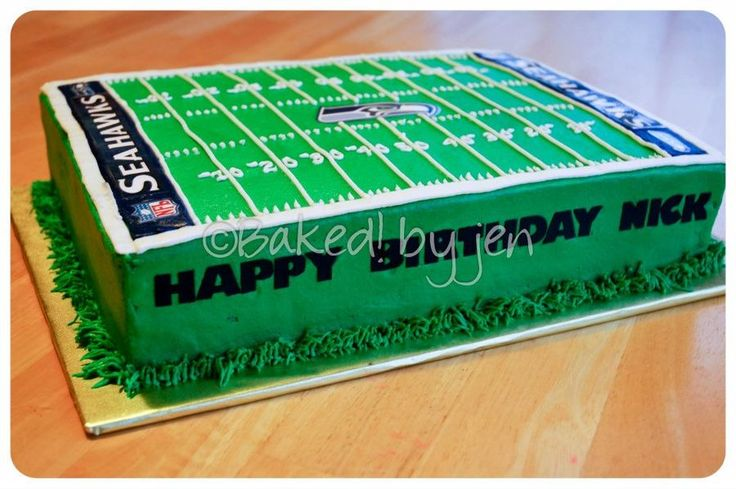 football field cake seahawks - Google Search