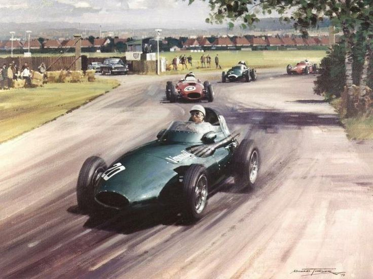 Michael Turner (b.1934) —  Stirling Moss in the Winning Vanwall   (1024×768)