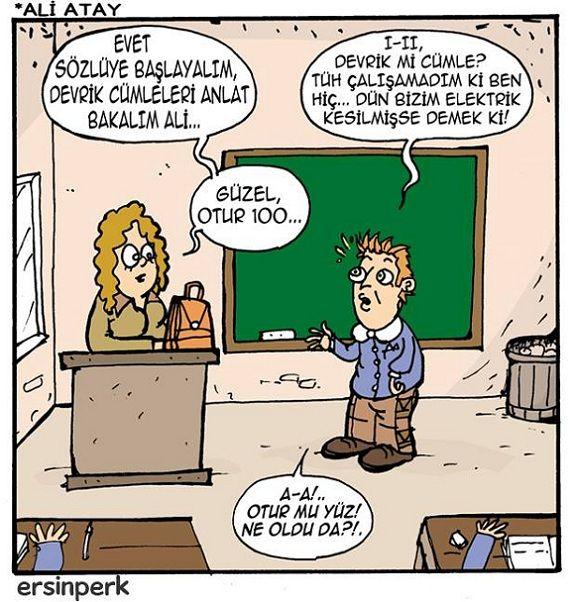Sözlüden 100 Almak Karikatürü Ersin Perk