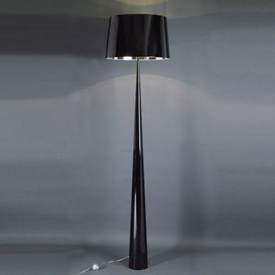 Lampadaire en métal avec abat jour Totem - Noir