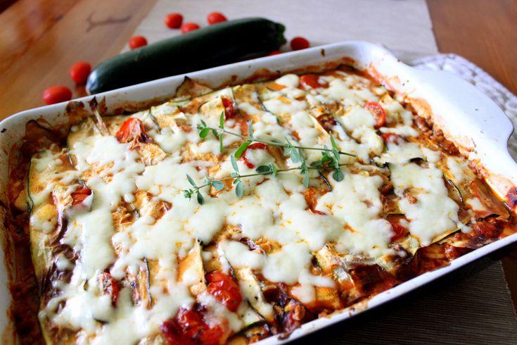 Cuketové lasagne, dietní a bezlepková varianta známého receptu