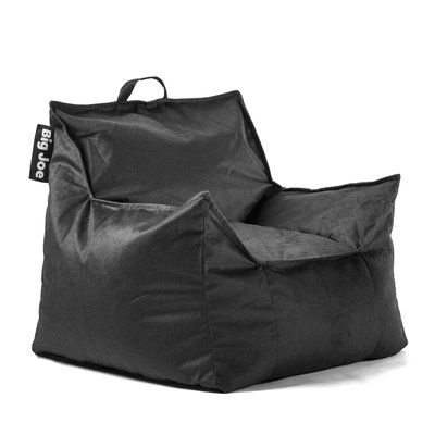 Big Joe Mitten Bean Bag Chair Upholstery Black Size 28 H X