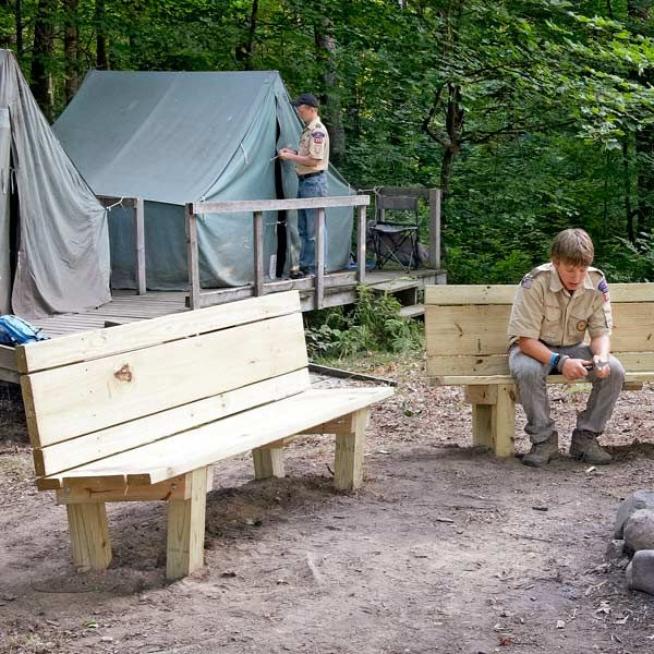 This simple, sturdy campfire bench is perfect for the back yard or cabin. Build it with your kids this weekend and it'll last for their kids.