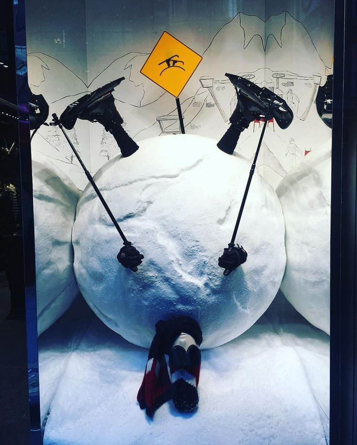 """MONCLER, London, UK, """"Still tough, you have to admit that this is easier than walking down the mountain"""", photo by Window Shoppings, pinned by Ton van der Veer"""