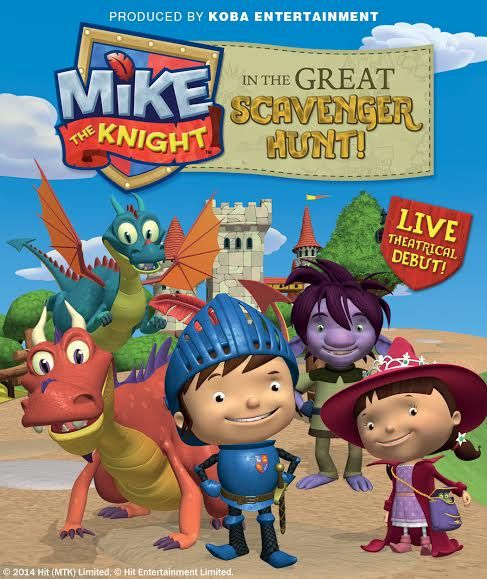 Enter to WIN a family pack of tickets for Mike the Knight in the Great Scavenger Hunt. Canadian tour dates can now be found on www.miketheknightontour.com