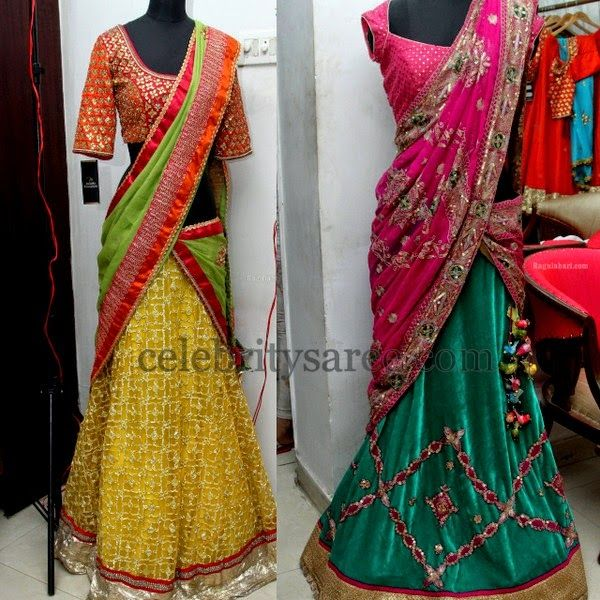 Latest Half Sarees 2014 | Saree Blouse Patterns