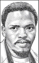 "On September 12, 1977 South African activist Stephen Biko died of injuries from beatings by the police after he had been arrested two weeks earlier. Biko, 30, was leader of the Black Consciousness Movement and had been ""banned"" (not allowed to speak in public) in 1973 but was still instrumental in planning the Soweto Uprising of 1976 which led to closer police scrutiny. The movie Cry Freedom depicts his life and is based on books by his friend, journalist Donald Woods. #TodayInBlackHistory"