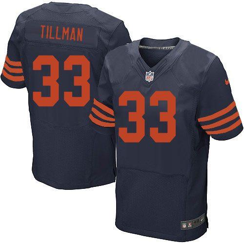 $129.99 Men's Nike Chicago Bears #33 Charles Tillman Elite Navy Blue 1940 Throwback Alternate Jersey