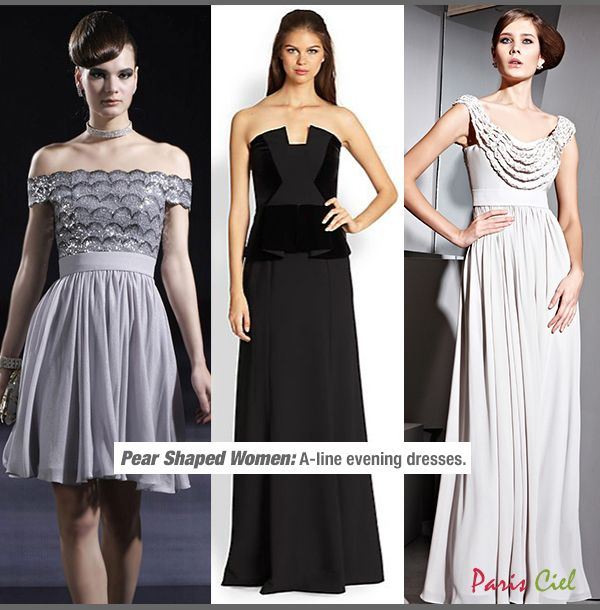 Pear Shaped Women Evening Dresses For 2 Celebrating Curves Pinterest Cuerpo De Pera Tipos Cara Y Siluetas